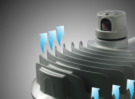 Integrated fin design for efficient cooling